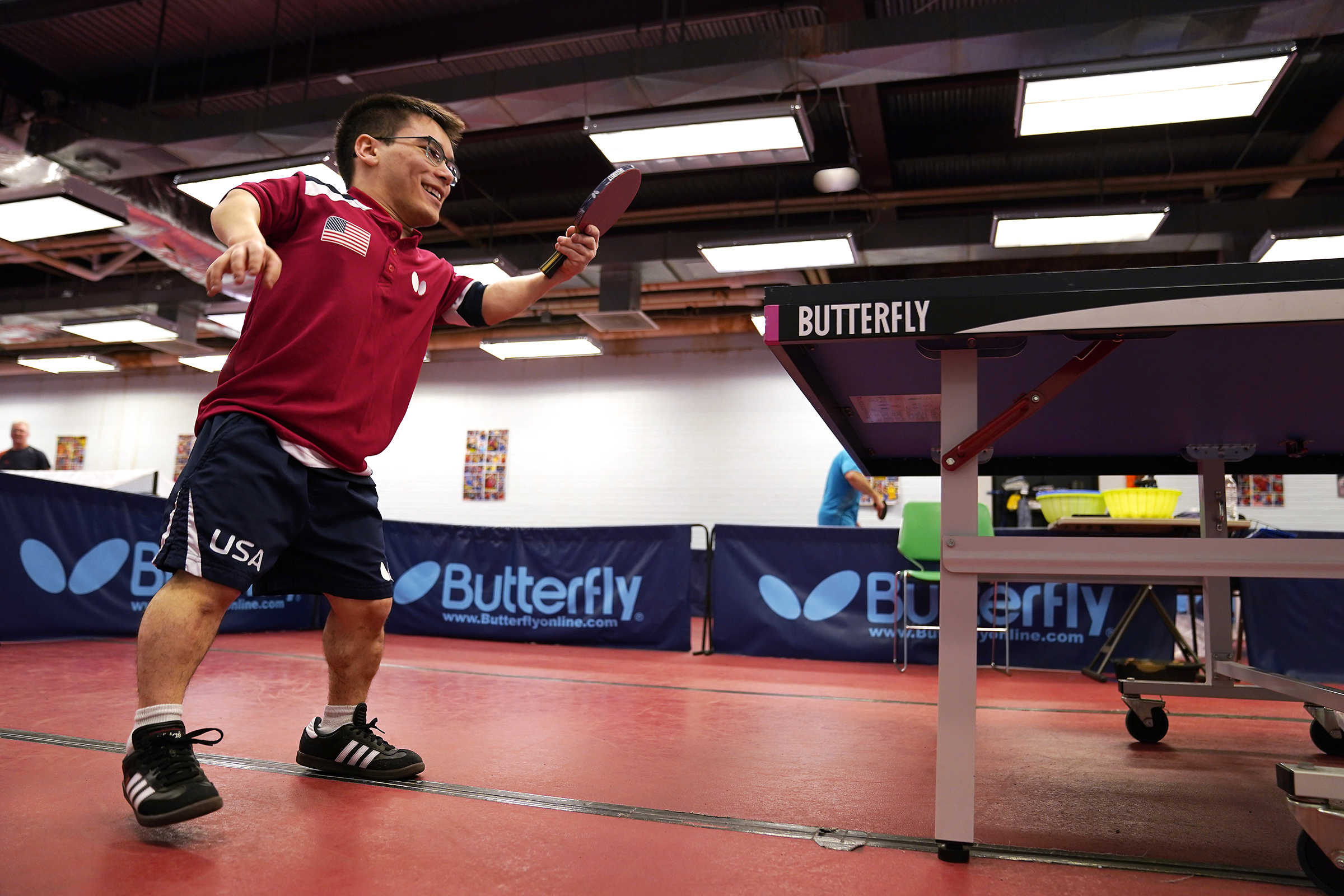 Ian Seidenfeld trained by helping his father with table tennis lessons at the Table Tennis Minnesota Training Center in South St. Paul.