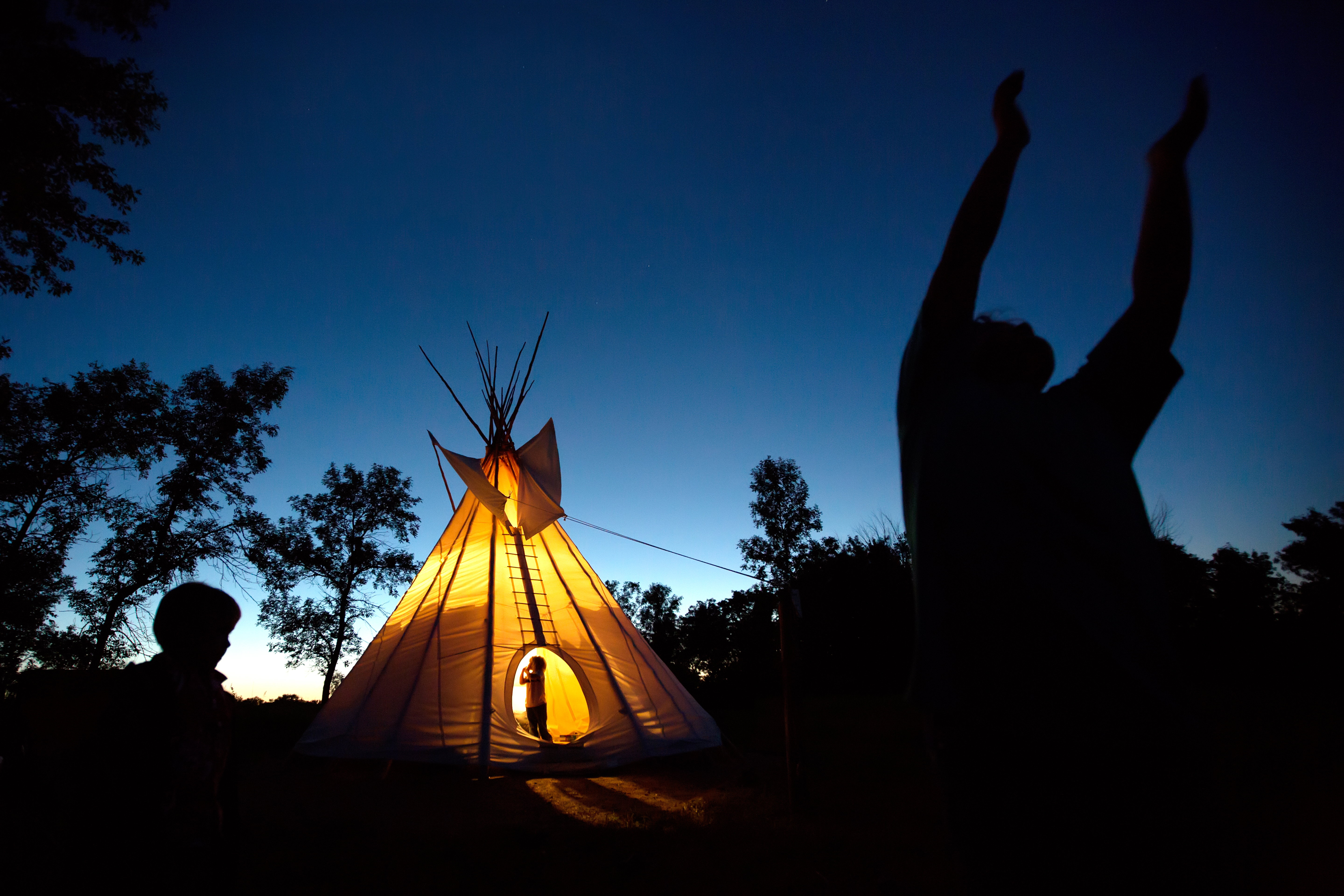 There are a growing number of ways to stay in state parks, no tent required. The tepees in Blue Mounds State Park near Luvurne have been a popular option for years.