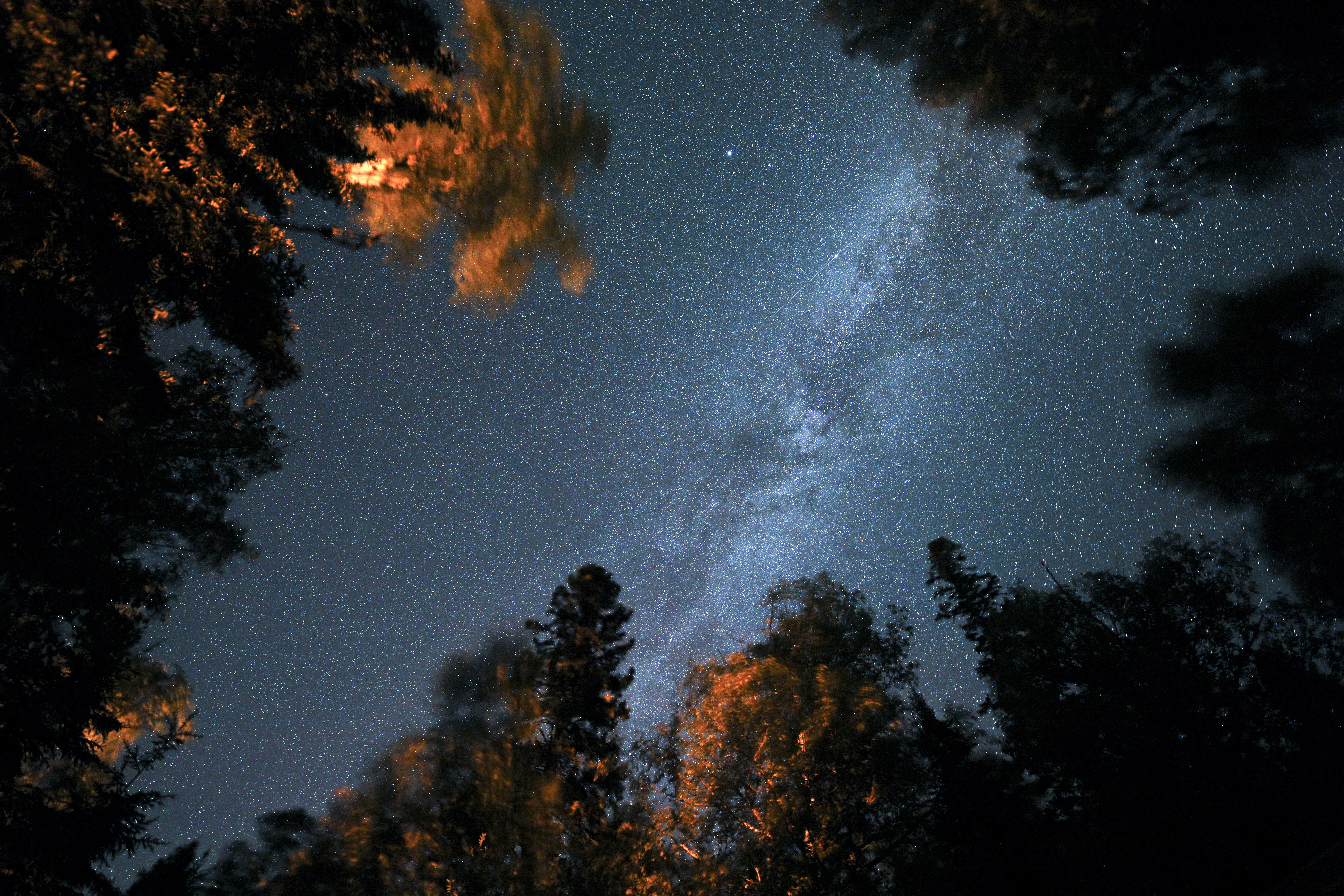 Campsites at Temperance River State Park along the North Shore offer stunning nighttime views.
