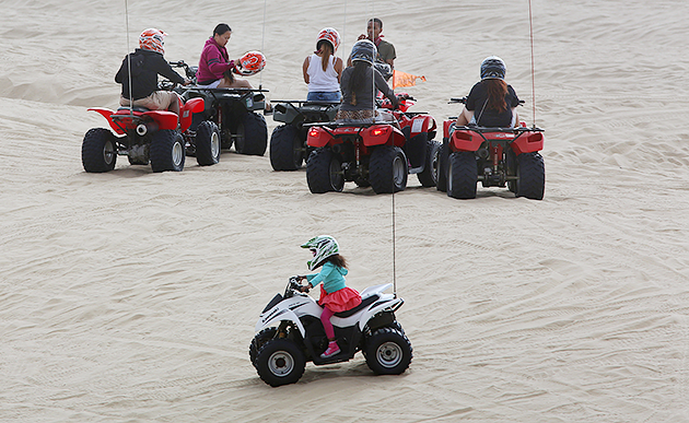 In California Four Year Old Nina Haley Drove An Atv While Her Mother Stacy Situ Watched From Another Vehicle Nearby