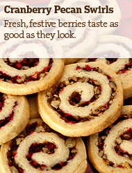 Cranberry Pecan Swirls