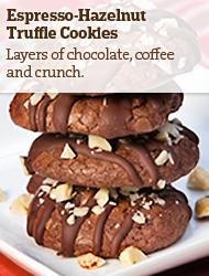 Espresso-Hazelnut Truffle Cookies