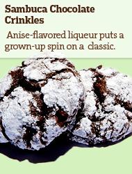 Sambuca Chocolate Crinkles